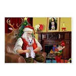 Santa's Schnauzer (9) Postcards (Package of 8)