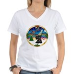 XmasMusic 3/Scottie #12 Women's V-Neck T-Shirt