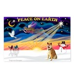 XmasSunrise/Shiba Inu Postcards (Package of 8)