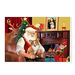 Santa's Corgi (#3P) Postcards (Package of 8)