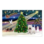Xmas Magic & Westie Postcards (Package of 8)