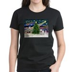 Xmas Magic & Westie Women's Dark T-Shirt