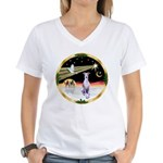 Wisemen/Whippet #8 Women's V-Neck T-Shirt