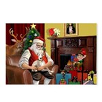 Santa's Whippet Postcards (Package of 8)