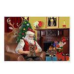 Santa's Yorkie (#11) Postcards (Package of 8)