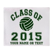 Class Of 2015 Volleyball Throw Blanket