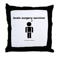Brain Surgery Survivor Throw Pillow