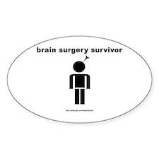 Brain Surgery Survivor Oval Decal