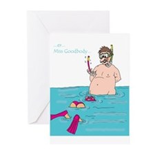 Miss Goodbody's Snorkel Greeting Cards (Package of