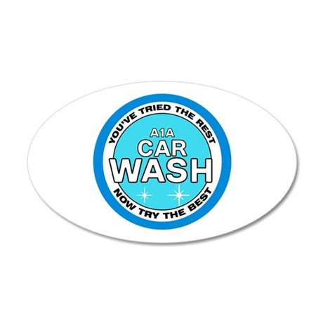 A1A Car Wash 20x12 Oval Wall Decal