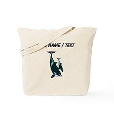 Custom Killer Whales Tote Bag