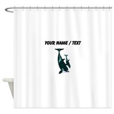 Custom Killer Whales Shower Curtain