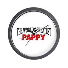 """""""The World's Greatest Pappy"""" Wall Clock"""