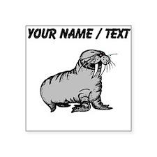 Custom Cartoon Walrus Sticker
