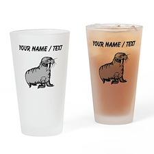 Custom Cartoon Walrus Drinking Glass