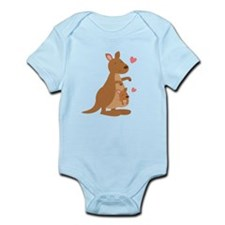 Cute Kangaroo and Baby Joey Body Suit