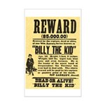 Billy The Kid Dead or Alive Mini Poster Print