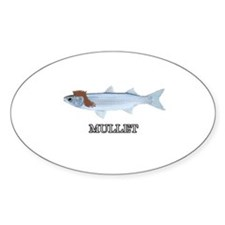 The REAL Mullet Oval Decal
