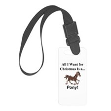 Christmas Pony Luggage Tag
