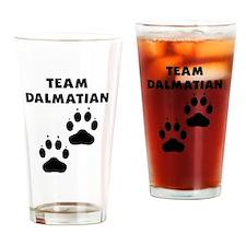 Team Dalmatian Drinking Glass