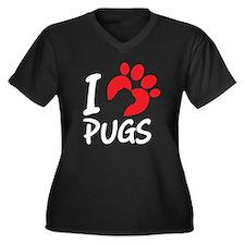 I Love Pugs Plus Size T-Shirt