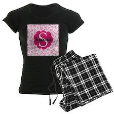 Personalized Pink Name Monogram Gift Pajamas