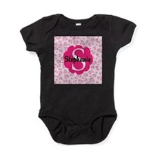 Personalized Pink Name Monogram Gift Baby Bodysuit