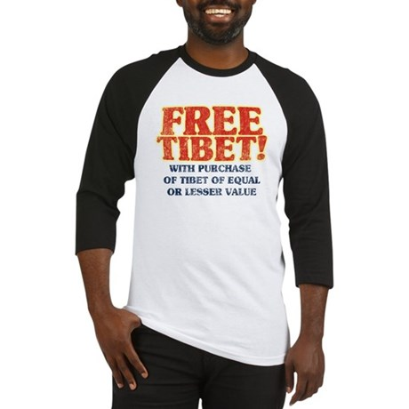 Free Tibet With Purchase Baseball Jersey