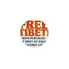 Free Tibet With Purchase Mini Button