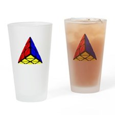 Pyraminx cude painting Drinking Glass