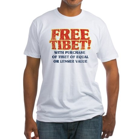 Free Tibet With Purchase Fitted T-Shirt