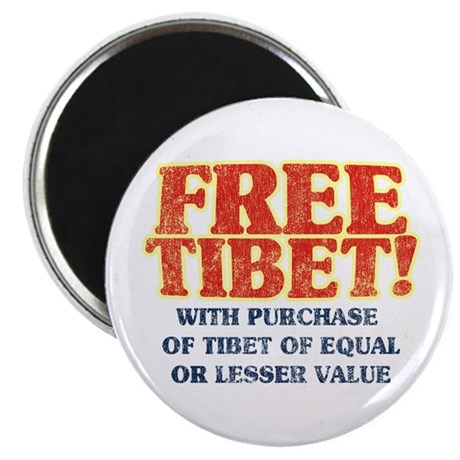 Free Tibet With Purchase Magnet
