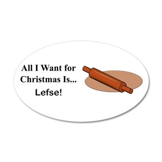Christmas Lefse 35x21 Oval Wall Decal