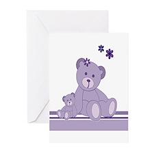 Cute Girl Teddybears Greeting Cards (Pk of 20)