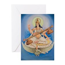 Saraswati Greeting Cards (Pk of 10)