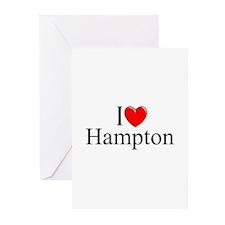 """I Love Hampton"" Greeting Cards (Pk of 10)"