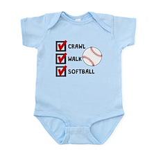 Crawl Walk Softball Body Suit
