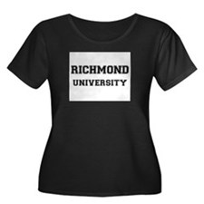 RICHMOND UNIVERSITY Women's Plus Size Scoop Neck D