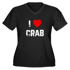 Cute Crab Women's Plus Size V-Neck Dark T-Shirt