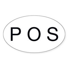 POS Oval Decal