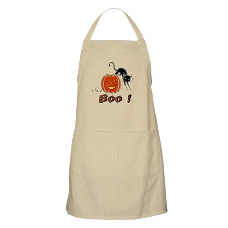 Halloween Pumpkin and Cat BBQ Apron