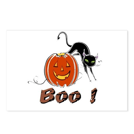 Halloween Pumpkin and Cat Postcards (Package of 8)