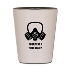 Personalized Breaking Bad Gas Mask 1 Shot Glass