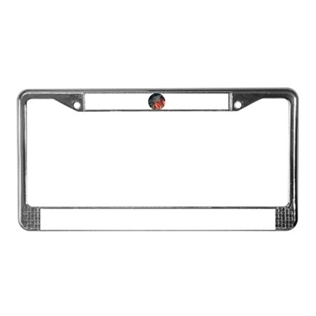 Strawberry Anemone License Plate Frame