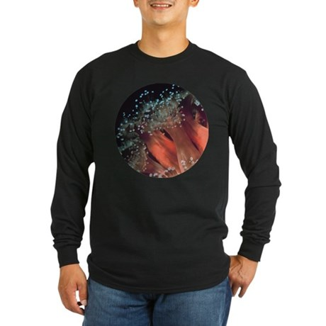Strawberry Anemone Long Sleeve Dark T-Shirt