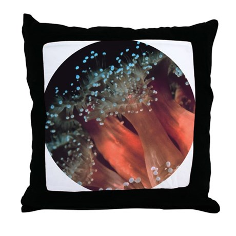 Strawberry Anemone Throw Pillow