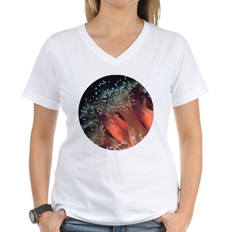Strawberry Anemone Women's V-Neck T-Shirt