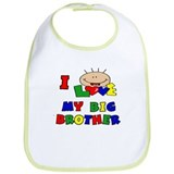 I Love my BIG Brother CUTE Bib