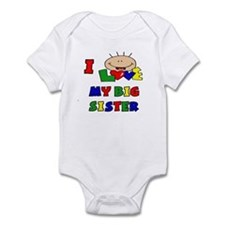 I Love My BIG Sister CUTE Baby/toddler bodysuits