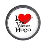 Love Victor Hugo Wall Clock